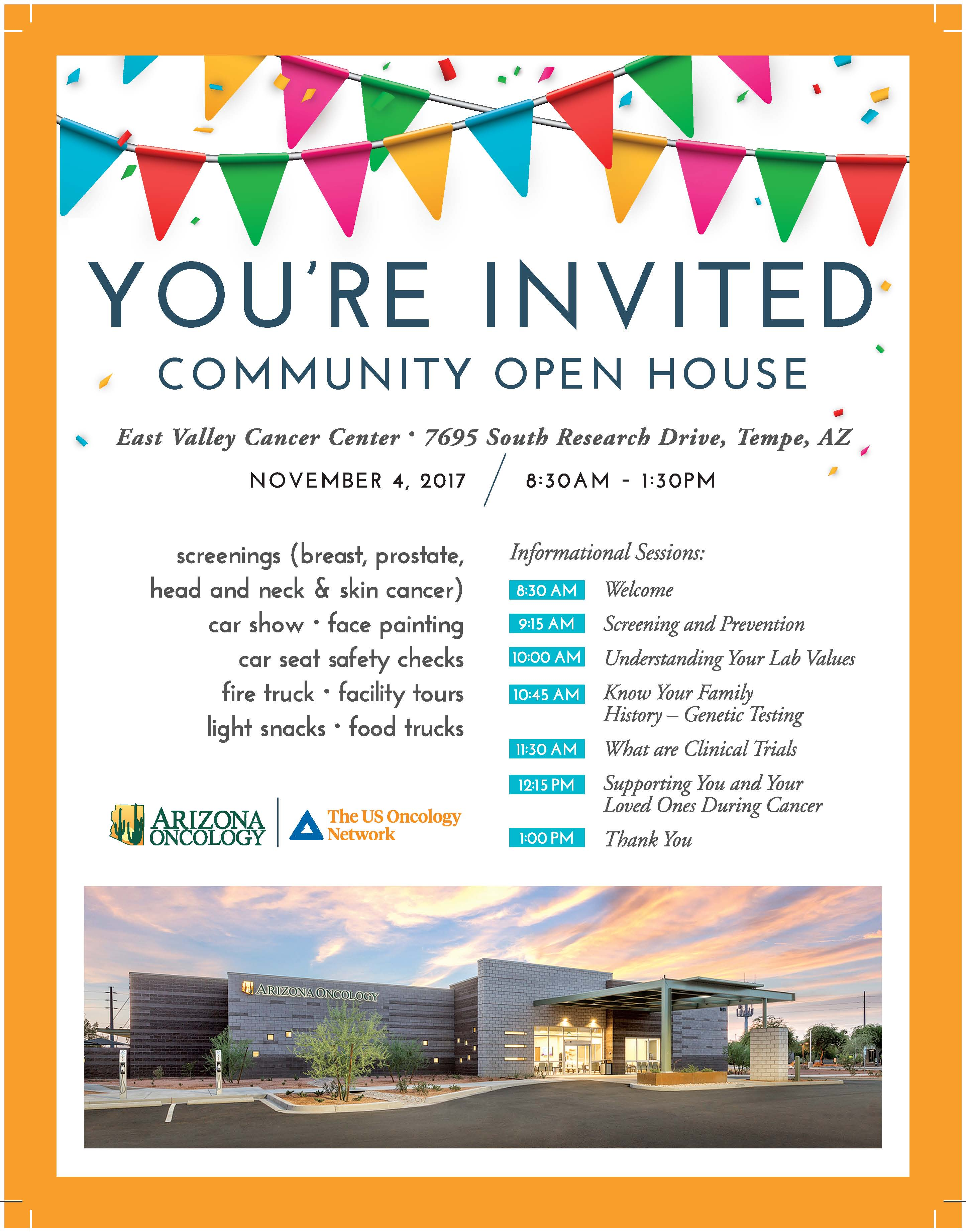 COMMUNITY OPEN HOUSE AT OUR EAST VALLEY CANCER CENTER